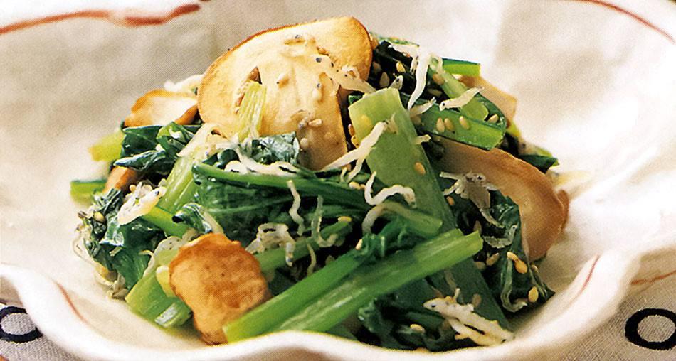 アガリクスと小松菜のカルシウム炒め,imb,アイエムビー,アガリクス,レシピ
